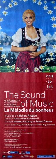 2009 pub The sound of music, théâtre du Châtelet
