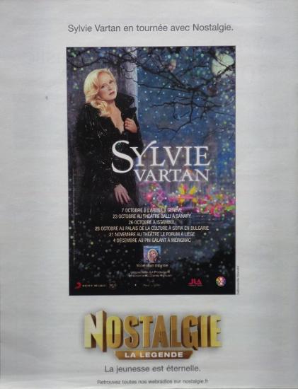 2009 publicité concerts Sylvie Vartan