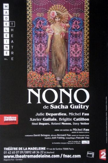 2010 affiche Nono, théâtre de la madeleine
