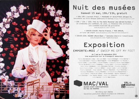 2010 carte promo Nuit des musées, MAC/VAL