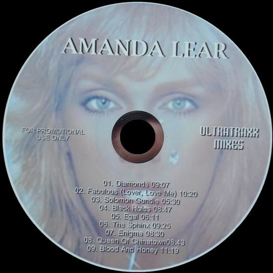 Amanda Lear: Ultratraxx mixes, 2010, cd sans boitier