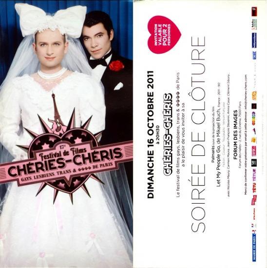 2011 cart 'Soirée de clôture Chéries-Chéris' Paris