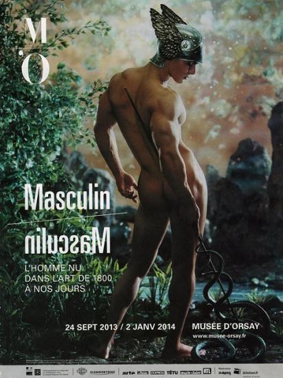 2013 pub expo Masculin-Masculin, Muée d'Orsay, Paris
