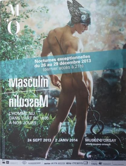 2013 pub nocturnes expo Masculin-Masculin, Muée d'Orsay, Paris