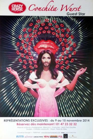 2014 aff 'Conchita Wurst au Crazy Horse' Paris
