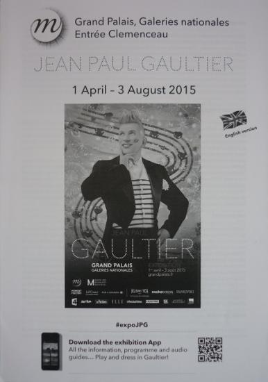 2015 guide anglais expo Jean Paul Gaultier, Grand Palais, Paris