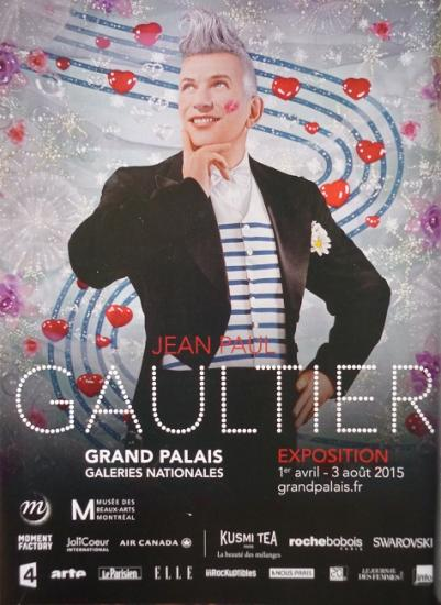 2015 pub expo Jean Paul Gaultier, Grand Palais, Paris
