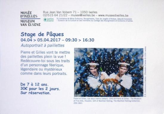 2017 flyer Stage de Pâques expo 'Clair-obscur'