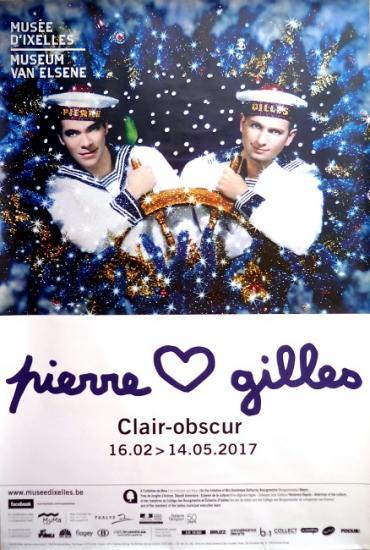 2017 affiche de l'exposition 'Clair-obscur' Bruxelles, Belgique, 118x174 cm